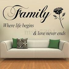 Removable Quote Family Lettering Wall Stickers Vinyl Art Quote Decal Home Decors