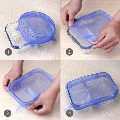 Super Stretch Lids Silicone Covers Universal Food Covers Lids Easy`Fit*Sale
