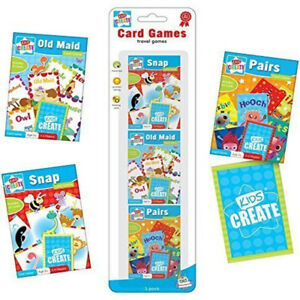 Pack-3-Childrens-Assorted-Classic-Travel-Card-Games-Snap-Pairs-Old-Maid