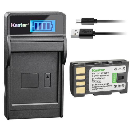 Kastar BATTERIA LCD Caricabatterie per JVC BN-VF808 BN-VF808U /& JVC GY-HM100 Camcorder