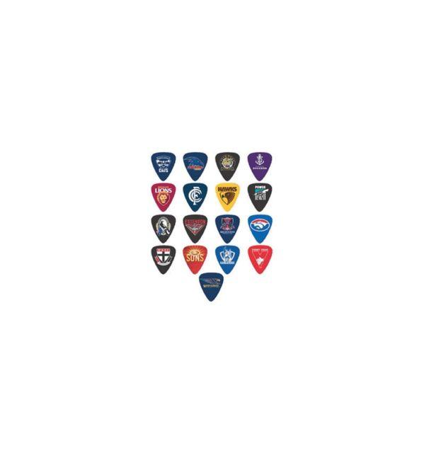 Official AFL Guitar Picks 5 Pack Licensed BNIP