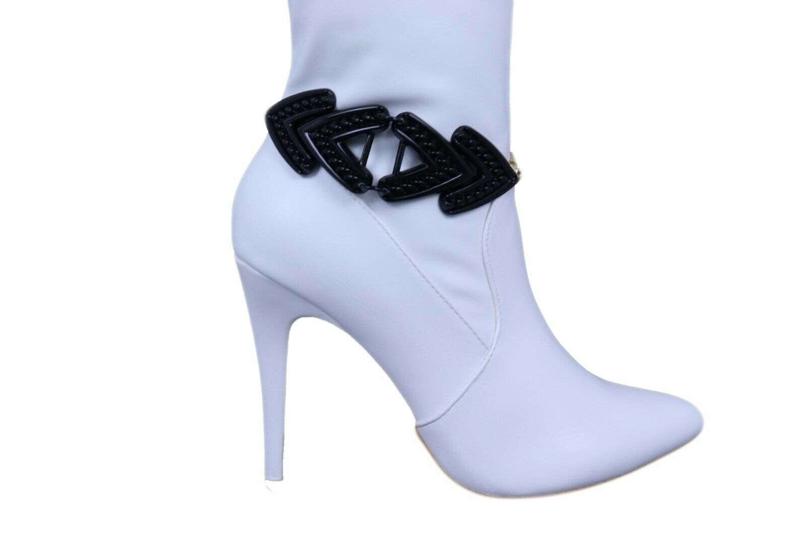 Women Gold Boot Chain Bracelet Western Shoe Black Arrow Retro Style Charm Anklet