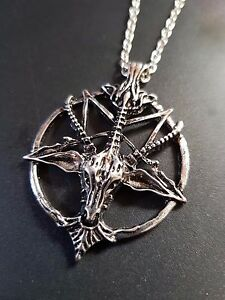 Baphomet Devil Satan Goat Head Amp Pentagram Necklace On
