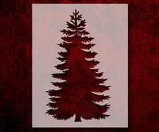 """/""""CHRISTMAS TREE/"""" With Star Traditional 8.5/"""" x 11/"""" Stencil Plastic Sheet NEW S40"""