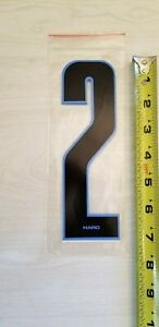 "old school BMX HARO Black w// White number plate Stadium Numbers # 4 NOS 7/""  GT"
