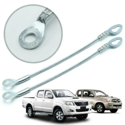 For Toyota Hilux Vigo 05 2006-14 Rear Tailgate Tail Gate Wire Cable Silver 2Pc