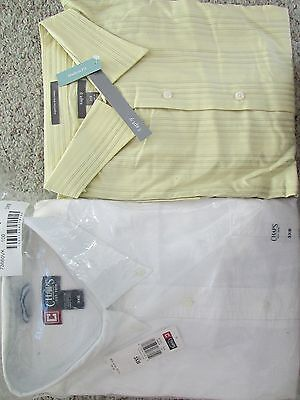 NEW 2 DRESS SHIRTS MENS 3XB CHAPS  APT 9 BUTTON FRONT BRAND NEW!!! CLOSEOUT!