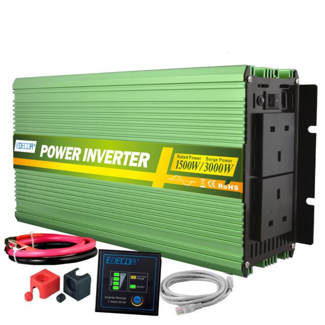 Power Inverter 2500w Dc 24v To Ac 240v Pure Sine Wave Converter Camping Auto