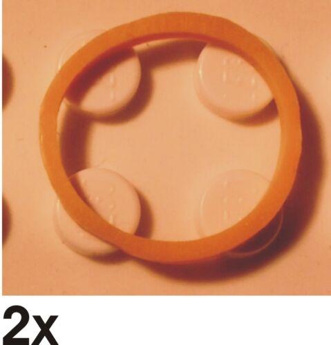 NEUE Gummiringe quadratisch 2x2  in gelb 205 x151 2 St