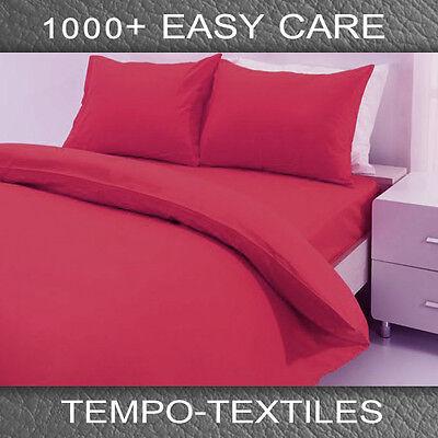 SB/DB/QB/KB Hotel Grade 1000TC Microfiber Quilt/Doona/Duvet Cover Sham Set Red