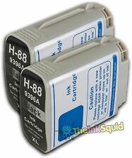 2 HP 88 Black Ink Cartridges for Officejet/Pro K5400dtn