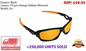 478 RayZor Black Sports Wrap Sunglasses Uv400 Blue Iridium Mirrored Lens RRP£49