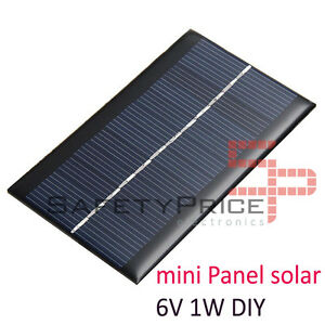 Belle 6v 1w Panel Solar Arduino Diy Bricolaje Móvil Cargador Fotovoltaico Célula Sp