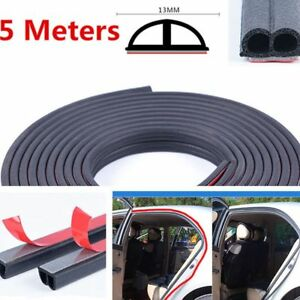 f65c0a1834979 5M Black B Shape Car Door Rubber Soundproof Wertherstrip Hollow Seal ...