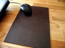 Echt Leder Mousepad - Mauspad ! 18,5 x 26,5 cm - Vintage - Farbauswahl braun