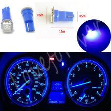 10X T5 12V Mini Wedge Bulb Blue 1-SMD Car Dashboard Gauge LED Light Lamp Cluster