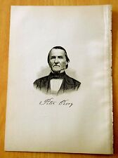 Antique Print 1885 DEACON PETER PEAVEY Greenfield, NH New Hampshire