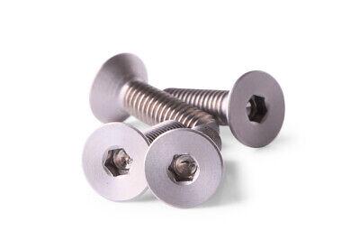 M4x15 Titanium Screws Taper Head 4 pieces 6AL4V Aerospace Grade M4x15 Bolts