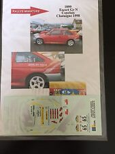 DECALS 1/43 FORD ESCORT COSWORTH CAUCHOIS RALLYE CHATAIGNE 1998 RALLY WRC