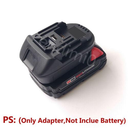 Milwaukee 18V M18 RED Slider Li-ion Battery Convert to Makita BL1830//40 Adapter