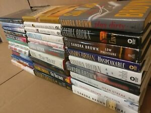 Lot-of-10-Sandra-Brown-Thriller-Mystery-Romance-Suspense-HB-HCDJ-Book-RANDOM-MIX