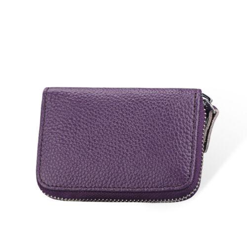 Womens Soft Leather  Wallet Credit Card Holder Zipper Case Purse RFID Block UK