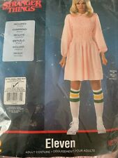 NWT Stranger Things Eleven Pink Cosplay Dress Costume Girls XL 14-16