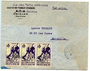 Air Mail / Par Avion / Lettre Cote D'ivoire Abidjan / Voyage Pour Marseille