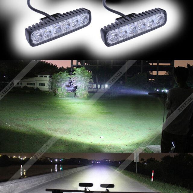 2X 18W LED Arbeitsscheinwerfer Weiß Offroad 12V 24V Scheinwerfer für Jeep SUV