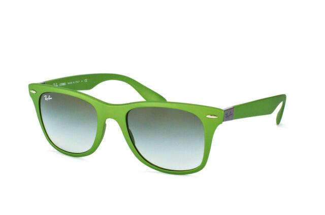 1a252abe28b Ray Ban RB4195 6086 8E Wayfarer Liteforce Green   Green Gradient Sunglasses