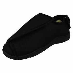 Wide Fitting E to 5E Memory Foam Fully Opening Medical Slippers/Shoes CT16001