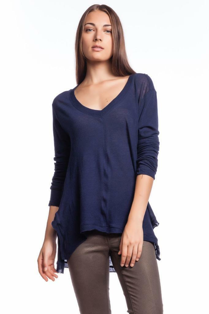 Wilt Slouch Boyfriend Shirt INK 401091 Long Sleeve Uneven Hi low Asymmetrical BF