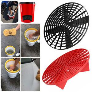 Car-Wash-Grit-Guard-Insert-Washboard-Water-Bucket-Filter-Anti-Scratch-Sponge-Set