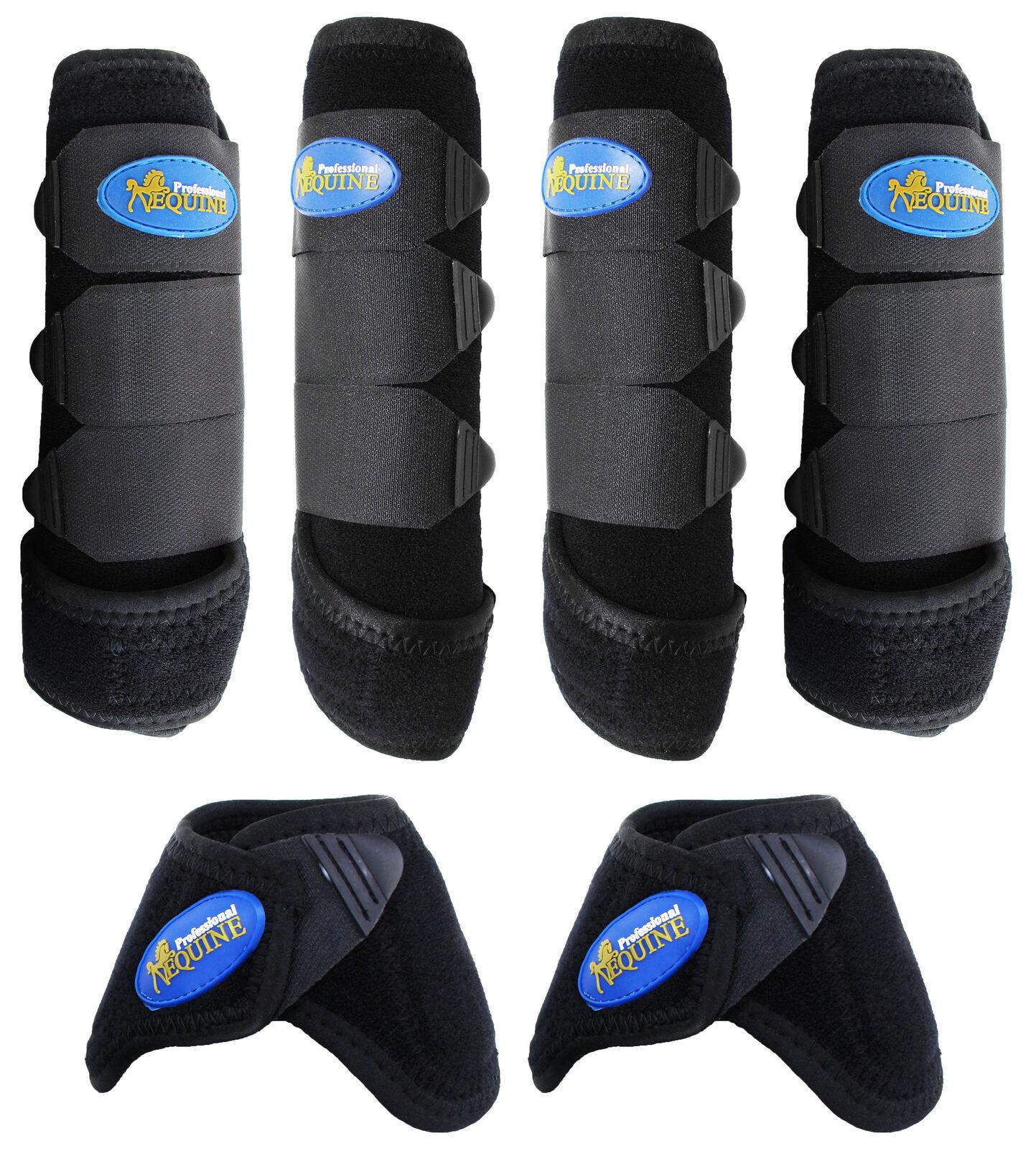 Férula de Caballo Equino Profesional Medicina Deportiva botas & Bell botas Combo 41BKD