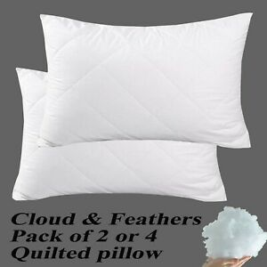 EXTRA-DEEP-QUILTED-PILLOW-HOLLOW-FIBER-FILLING-COMFORTABLE-SOFT-SUPER-FIRM-HOTEL