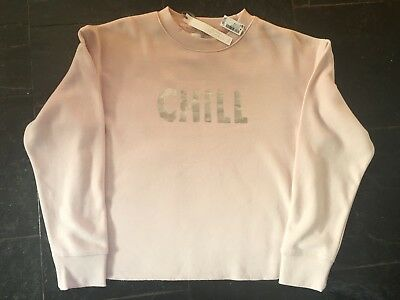 BNWT NEXT DOWNTIME FLEECE CHILL LOUNGE SLOUCH TOP SWEATSHIRT SIZE SMALL