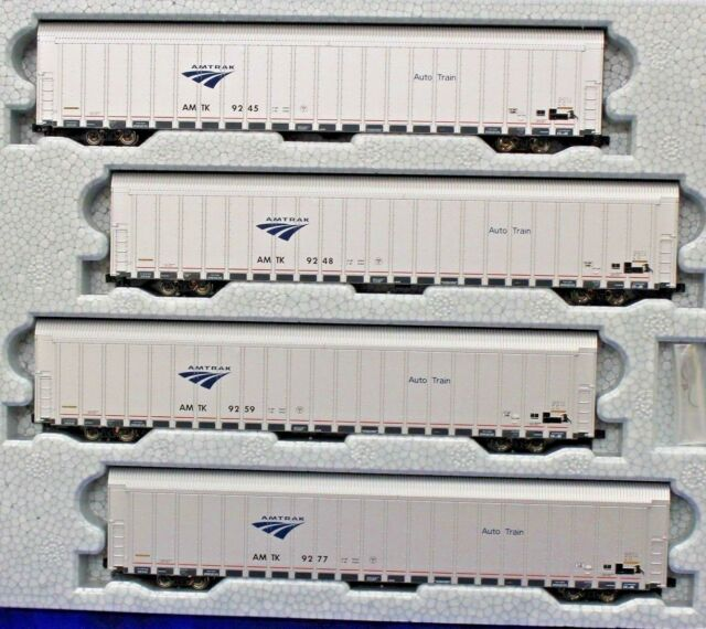 N Scale - KATO 106-5506 AMTRAK Auto rack Phase V 4-Car Set # 4 NEW IN BOX !!!