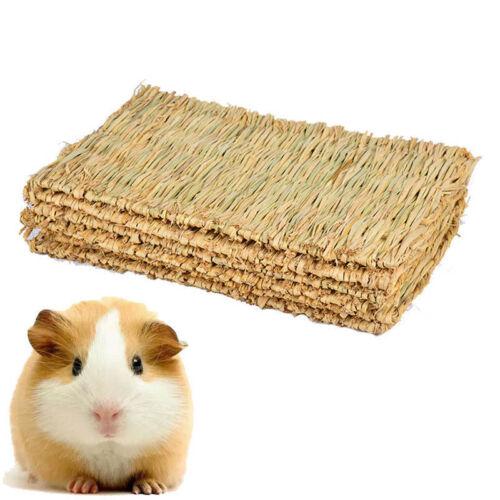 1PC Reusable Pet Rabbit Grass Activity Mat Guinea Pig Woven Straw Cage Pad Toys