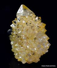Cactus Spirit Quartz Yellow goethite cactus cuarzo Citrine spiritquarz Sudáfrica