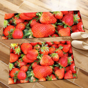 Details About Piles Of Strawberry Kitchen Area Rugs Living Room Floor Mat Bedroom Carpet Decor