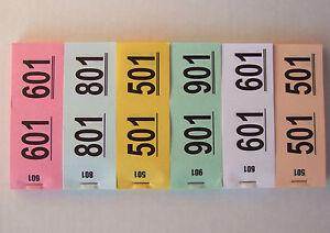 500 Doppelnummern Nr. 1-500, Abrißnummern, Garderobenmarken, Lose - 87739 Loppenhausen, Deutschland - 500 Doppelnummern Nr. 1-500, Abrißnummern, Garderobenmarken, Lose - 87739 Loppenhausen, Deutschland