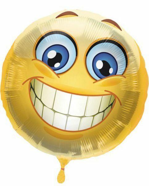 Palloncino mylar Foils 18 pollici EMOTICON emotic sorriso super 02JL