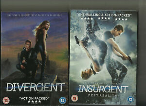 Divergent 2014 Insurgent 2015 First Second Films In The Series 5014293127356 Ebay