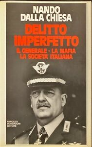 DELITTO IMPERFETTO  - NANDO DELLA CHIESA - MONDADORI 1984
