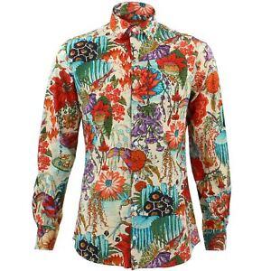 save off db927 ad8ee Dettagli su Camicia da uomo Loud ORIGINALS fatto su misura giapponese  multicolore Rétro