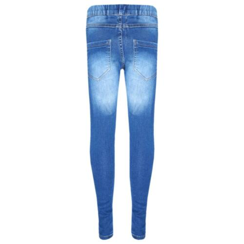 Kids Stretchy Jeans Girls Denim Jeggings Pants Trousers Leggings Age 5-13 Years.