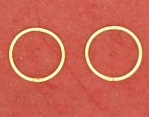 Gold-Plated-Sterling-Silver-SLEEPERS-Earrings-Hinged-12mm-small-solid-925