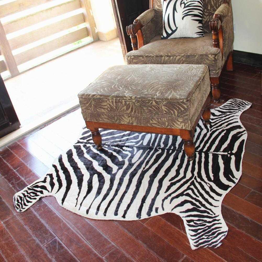 Non-slip Large Rug Cows Zebra Pattern Carpet Living Living Living Room Rugs Home New 061d2d