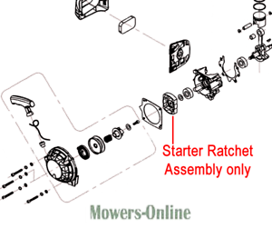 Mitox Brushcutter Starter Ratchet Assembly TBC430D.01.00.02-00 330LX 430UX 530UX
