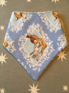 100% Coton Bébé Bandana Blue Diamond Bambi Dribble Bib-afficher Le Titre D'origine